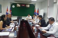 កិច្ចពិភាក្សាការងារជាមួួយ Mr. Takao Yagi, General Manager (Phnom Penh Branch) of Muzuho Bank Ltd.