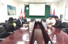 កិច្ចប្រជុំពិភាក្សាការងារជាមួយ Mr. A.J KAWAKATSU, General Manager of Marubeni Corporation Phnom Penh Office