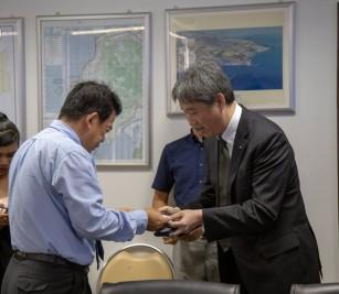 កិច្ចប្រជុំពិភាក្សាការងារជាមួយប្រតិភូមកពីកំពង់ផែ Kobe-Osaka International Port Corporation