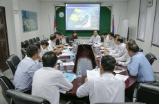 """កិច្ចប្រជុំពីគម្រោង """"Project of Improving the Logistics System of Cambodia"""""""